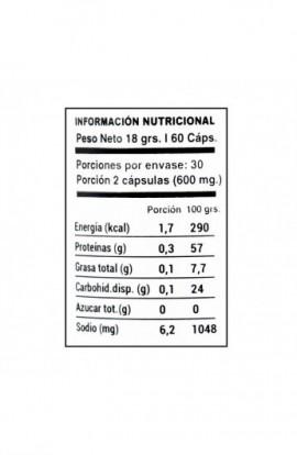 Spirulina 60 capsulas 300mg